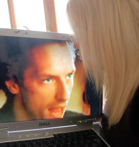 kissing Chris