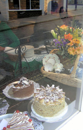 cakes through the window