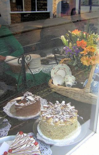 cakes through the window