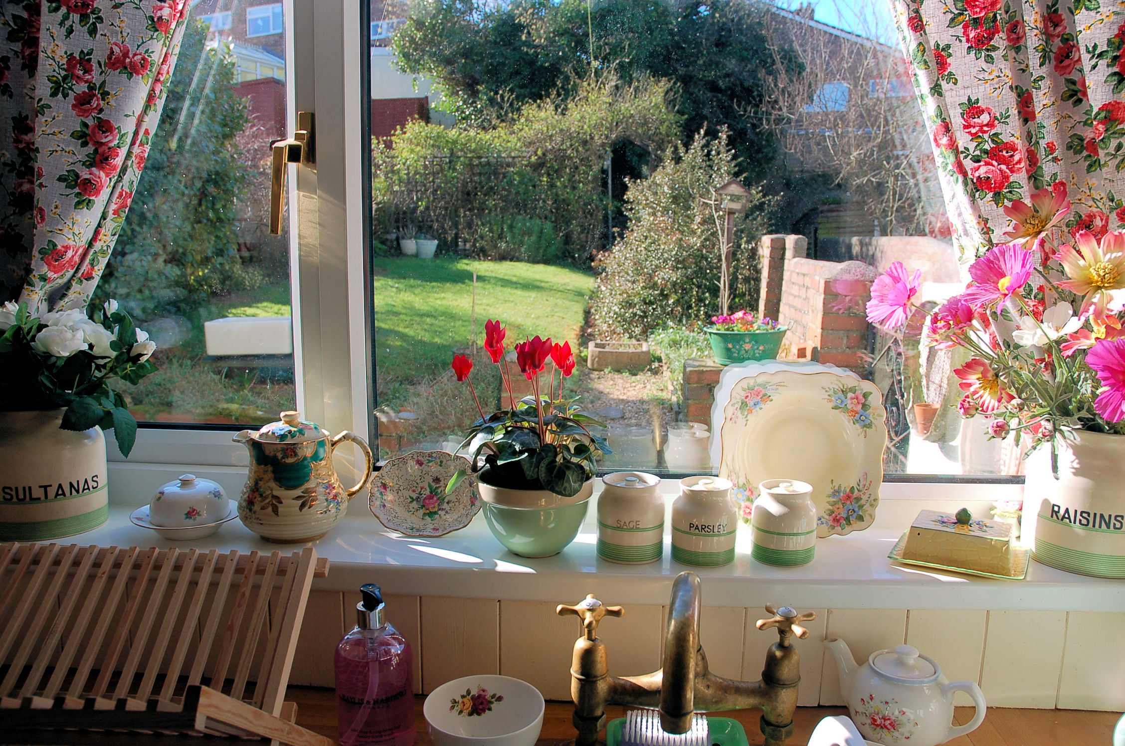 Posy: View from my kitchen sink ~ February