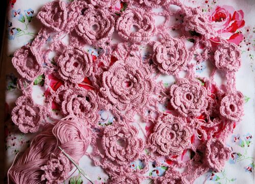 Small Rose and Wild Irish Rose - Crochet Me