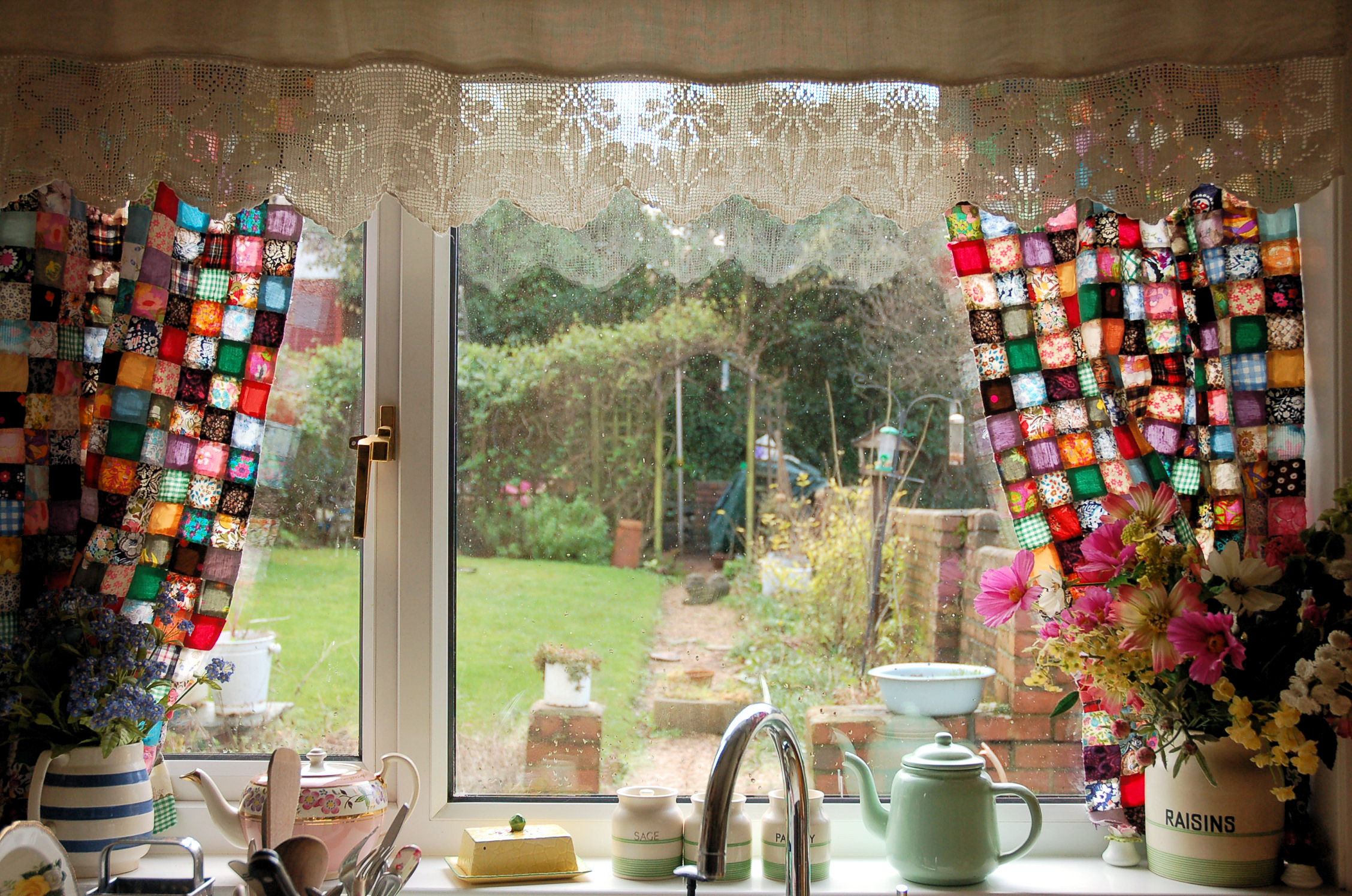 Wonderful Patchwork Curtains. Kitchen. Phew   They Are Finally Up And Itu0027s Only Taken  At Least 5 Or 6 Years And The Most Part Of The Last 2 Weeks.