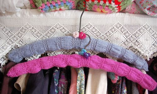 knitted hangers